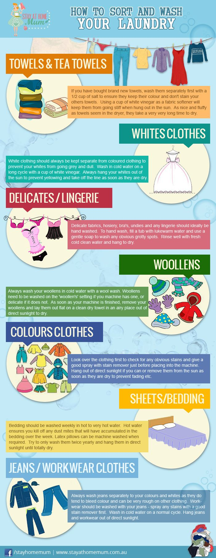 How to Sort & Wash your Laundry | Stay at Home Mum
