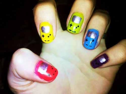 78 best gamer nail art images on pinterest make up nailart and super awesome nerdy nails smosh prinsesfo Images