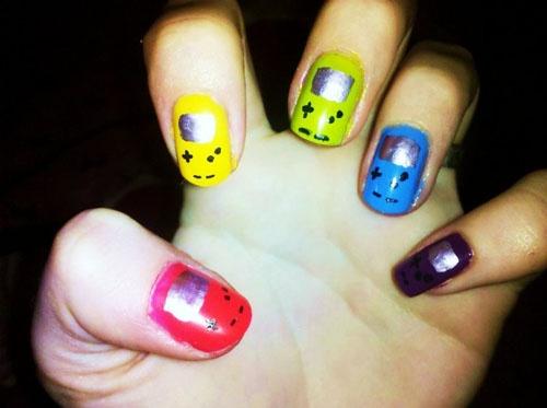 .: Nerdy Nail, Gameboy Color, Colors, Gameboy Nails, Nail Design, Color Nails, Beauty, Nail Art