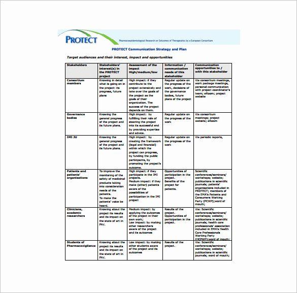 Strategic Communication Plan Template New 9 Project Munication Plan Templates Pdf Word Format In 2021 Communication Plan Template How To Plan Communications Plan