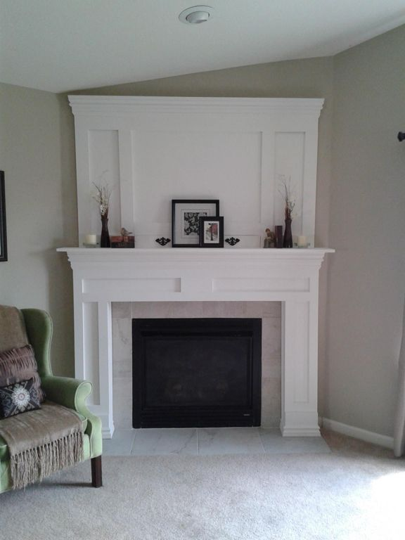 1000 images about mantle fireplace on pinterest Corner fireplace makeover ideas