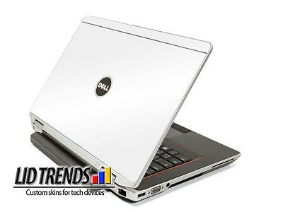 WHITE Vinyl Lid Skin Cover Decal fits Dell Latitude E6220 Laptop