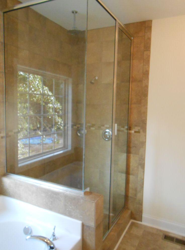 Custom Tile Shower With Glass Doors Interior Photos Pinterest Tile Showers Tile And Glasses