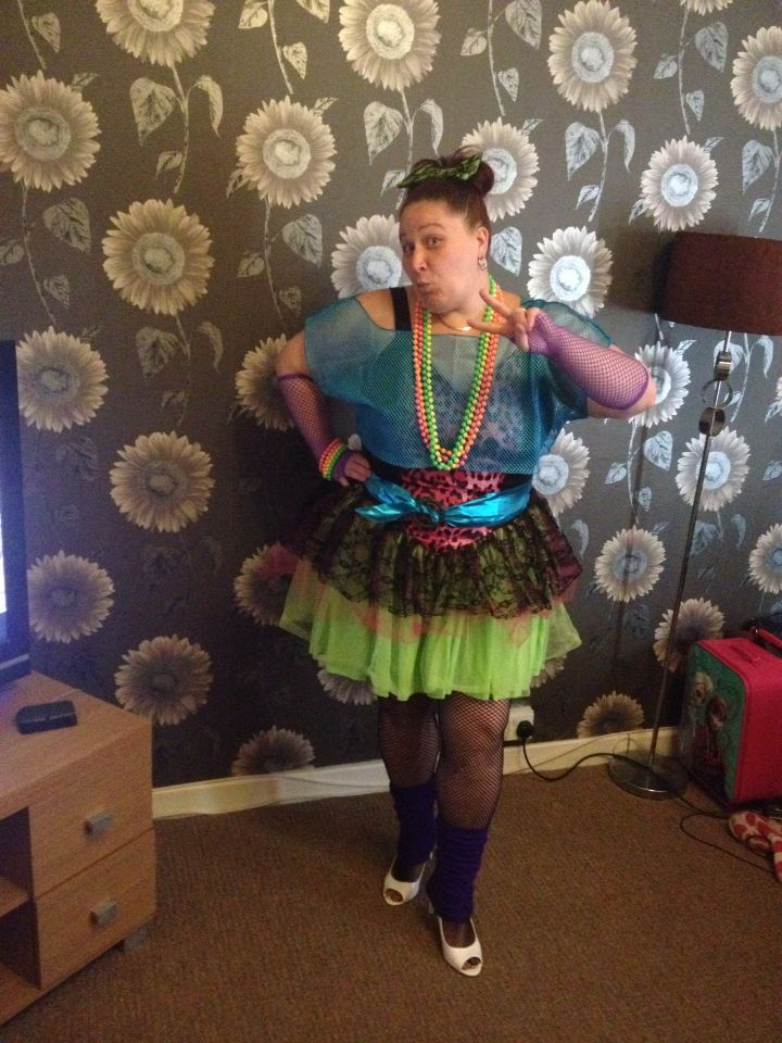 80s night outfit sorted for Chicago hahaha !!..
