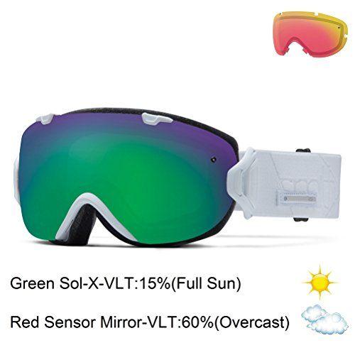 Smith Optics I/OS Vaporator Series Winter Sport Snowmobile Goggles Eyewear - White Prism/Green SOL-X / One Size Fits All Smith Optics http://www.amazon.com/dp/B00K6EKRFS/ref=cm_sw_r_pi_dp_enEVvb0M1DZ22