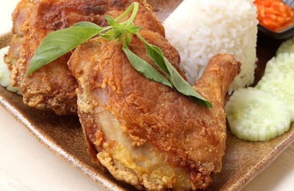 Ayam Penyet and sambal recipes