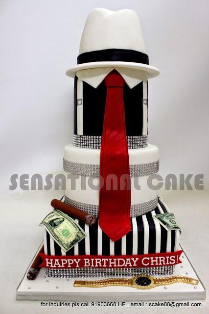 Sensational Cake Singapore , Online Cakes Singapore : AL CAPONE MAFIA 3D CAKE…