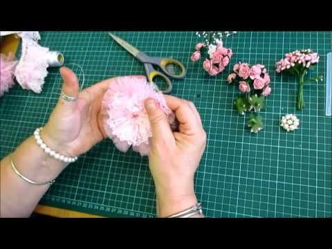 Easy To Follow Shabby Shabby Chic Flower Tutorial - jennings644 - YouTube
