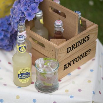 Personalised Wooden Drinks Holder