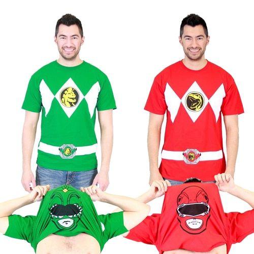 Mighty Morphin Power Rangers Flip Adult T-Shirt