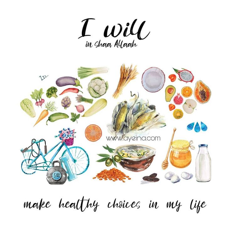 #iwillinshaAllah make healthy choices in my life