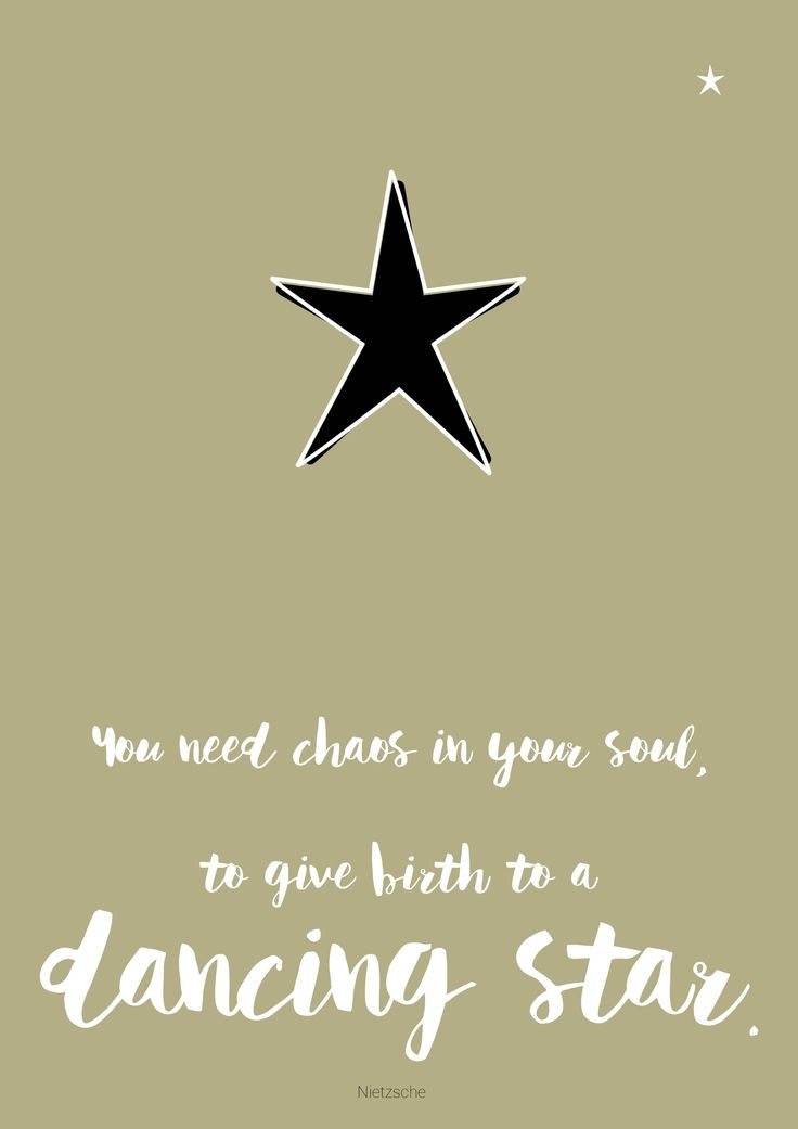 nietzsche quote dancing star