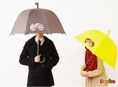 Paraguas visor No solamente para la lluvia, te para tambíen el viento en la cara y te permite ver por el visor. Excelente!