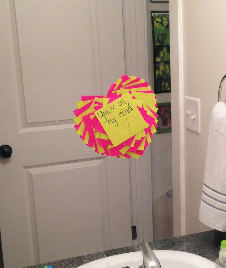 My Boyfriend Loved This Little Surprise I Made Him For His: What A Way To Surprise Someone! Leave Cute Notes For Your