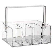 Buy Nomess Copenhagen Makeup Tool Box, Clear Plastic Online at johnlewis.com