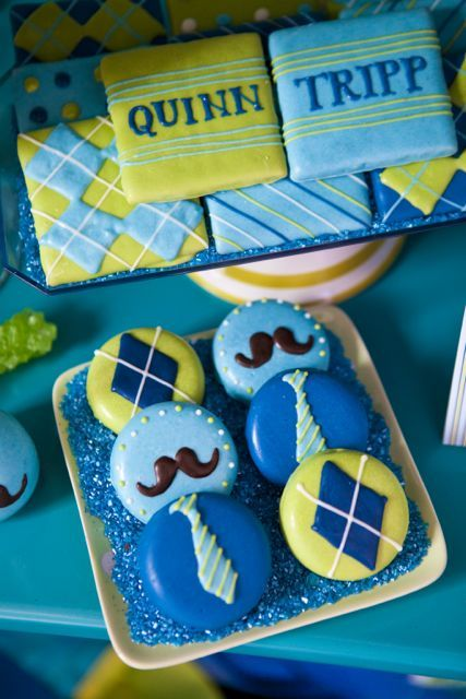 mustache and argyle cookies | featured birthday party      http://blisscelebrationsguide.com/