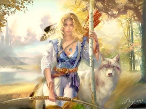 DEVANA (DIJANA).  Goddess of the wild and free nature, the ruler of forests and groves. Also, the goddess of hunting.