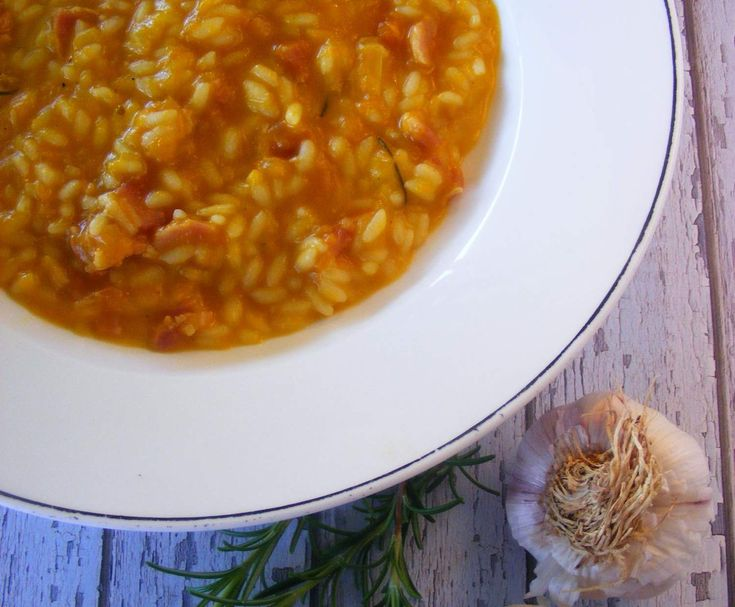 Roasted Pumpkin and Bacon Risotto