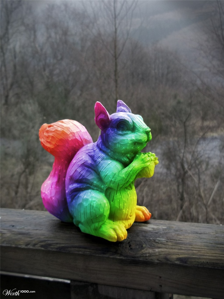 Magic Rainbow Squirrel Arcoiris
