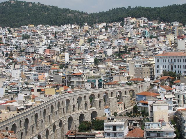 Roman Aqueduct, Kavala City, Greece