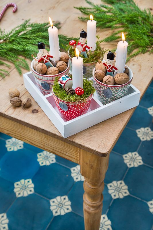 Last minute Advent wreath as decoration and gifts