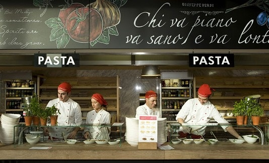 Vapiano | Internationaal | Italiaans Fast service concept | Trends: Fast & Slow, Fresh, Iconisation, Urban