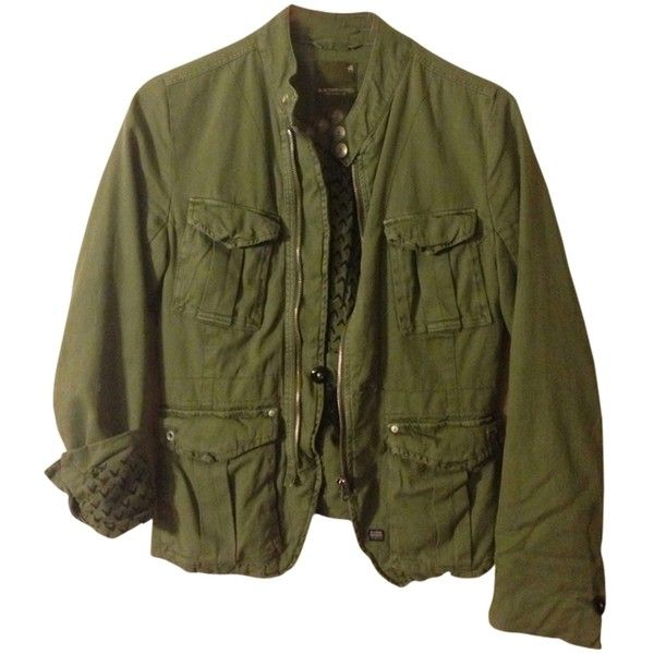 Pre-owned Jacket ($100) ❤ liked on Polyvore featuring outerwear, jackets, none, green military jacket, military jacket, g star jacket, field jacket and g-star