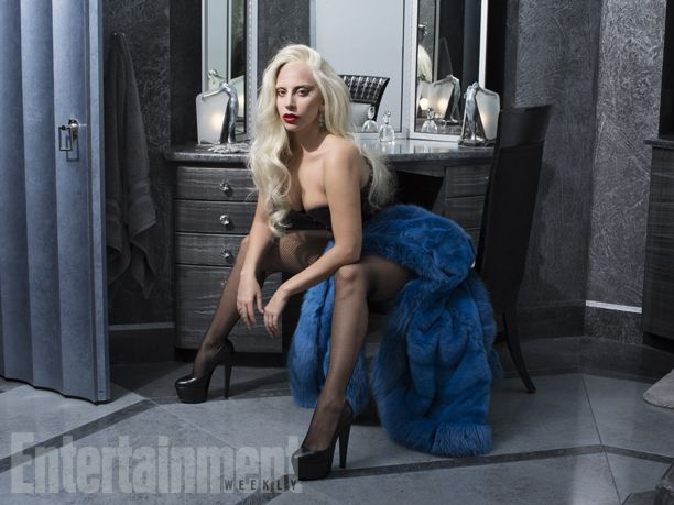 """""""One thing Ryan talked with me about is we wanted the audience to look at Gaga as an actor playing the Countess and completely separate from how her fans know her as Gaga,"""" says Eyrich. #AHSHotel   Image Credit: Michael Avedon for EW."""