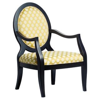Sloan Oval Back Yellow Accent Chair A little bit more formal looking chair (and sorry - I love yellow) ;)