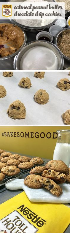 Let your neighbor know you appreciate them with a sweet gift. Celebrate the goodness of oatmeal, peanut butter and chocolate chips with cookies that combine 3 recipes into 1 favorite. To start, simply mix the ingredients, including NESTLÉ® TOLL HOUSE® Semi-sweet Chocolate Morsels and NESTLÉ® TOLL HOUSE® Dark Chocolate Morsels, then scoop the dough into balls for ideal cookie shapes. With a batch of Oatmeal Peanut Butter Chocolate Chip Cookies, you'll put a little more good in the…