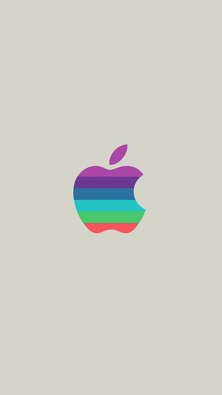 Minimal Logo Apple Color White Illustration Art Wallpaper Hd