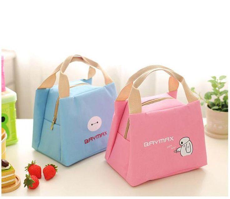 Hot Fashion Cartoon Baymax Thicker Insulation Lunch Bag Canvas Handbag 4 Colors