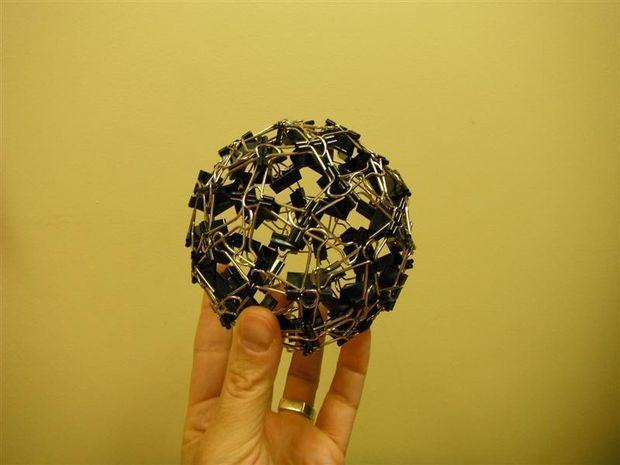 Picture of Binder Clip Ball - https://www.facebook.com/diplyofficial