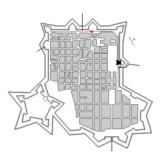 1620: Primo ampliamento di Torino