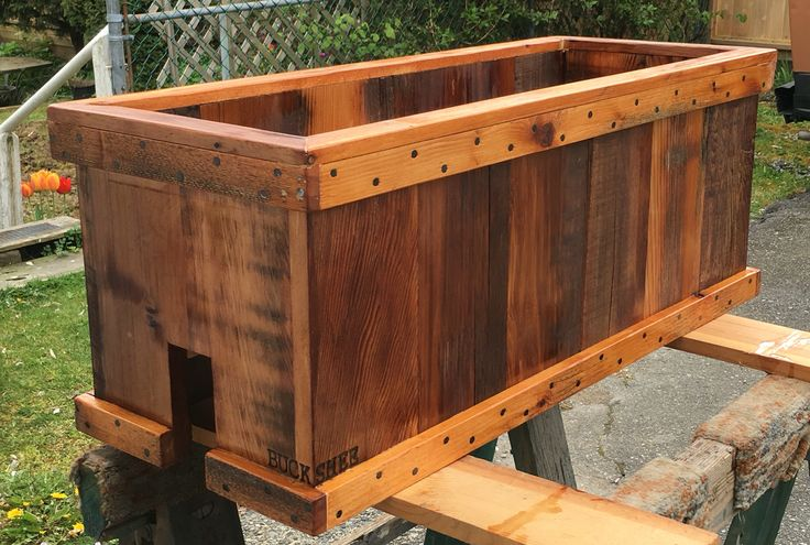 Reclaimed cedar planter box