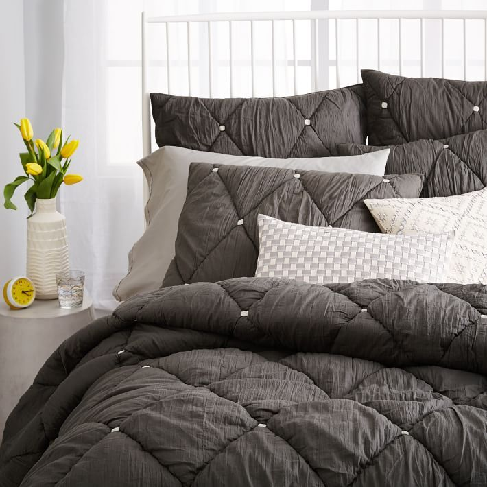 Mix and match your West Elm bedding to express your personal style with color + texture.