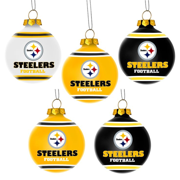forever pittsburgh steelers ball ornament set by forever