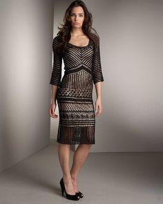 Crinochet: Нейман Маркус черное платье