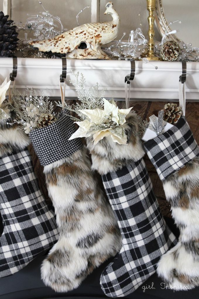FREE Pattern and Tutorial for Fur and Flannel Stockings - easy!