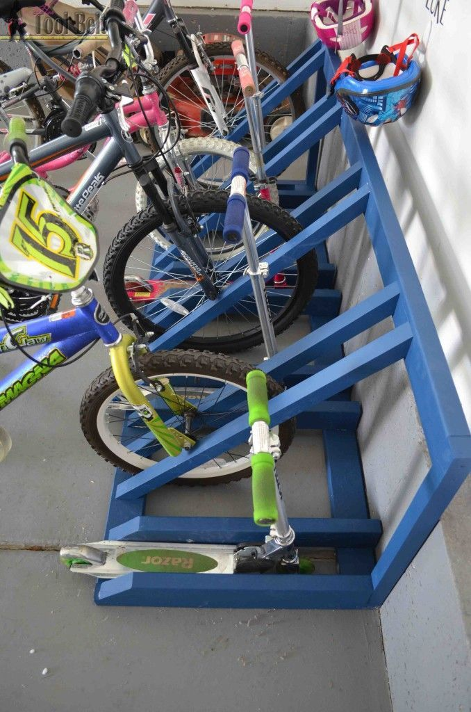 DIY Bike and Scooter Rack