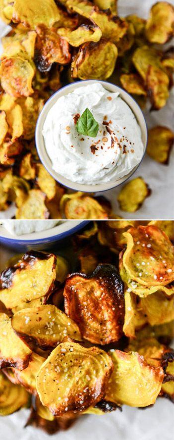 Baked Beet Chips! Better than potato chips. I howsweeteats.com