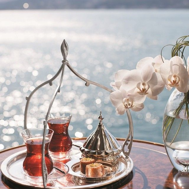 Afternoon Tea takes on a whole new dimension at Shangri-La #Istanbul, when served on the banks of the Bosphorus, with the divine aroma of Turkish tea complemented by the tasty delicacies that are Turkish Delights.