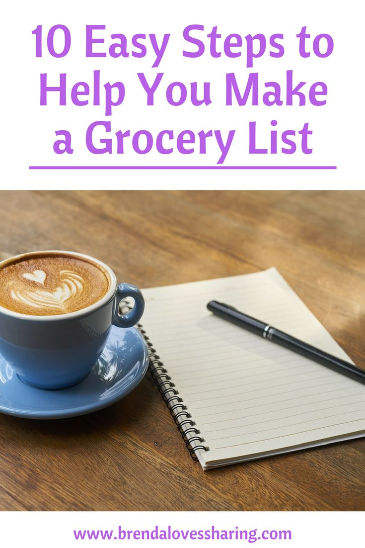 Do you hate making your weekly grocery list? It doesn't need to be difficult when you use a grocery list template. Cut down the time to plan your shopping using a master grocery list. Find out my 10 steps process to conquer the shopping list and grab a free printable grocery list to get you started! via @brendasharing
