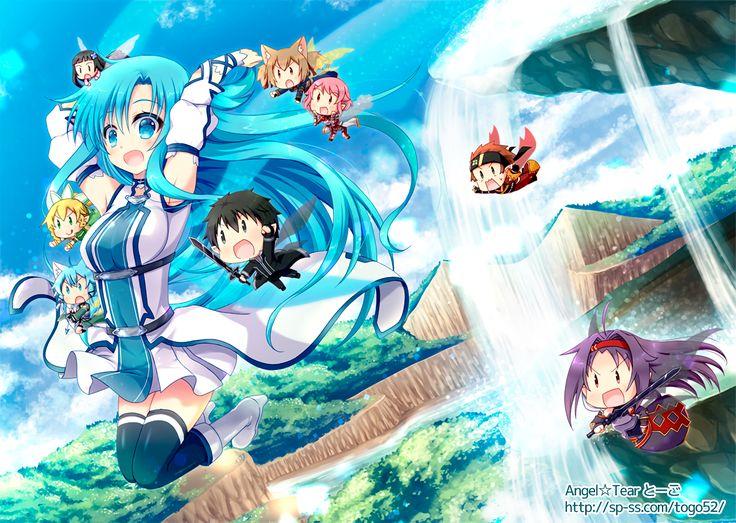 Anime Sword Art Online II  Asuna Yuuki Kirito (Sword Art Online) Kazuto Kirigaya Leafa (Sword Art Online) Suguha Kirigaya Klein (Sword Art Online) Ryoutarou Tsuboi Yui (Sword Art Online) Silica (Sword Art Online) Keiko Ayano Lisbeth (Sword Art Online) Rika Shinozaki Sinon (Sword Art Online) Asada Shino Yuuki Konno Sword Art Online Fondo de Pantalla