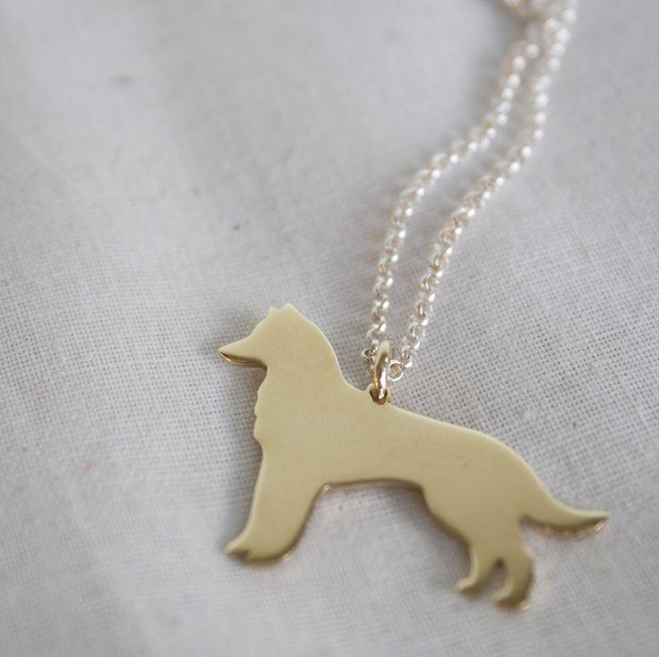 Gold Husky Pendant Necklace | by LolaAndCash on Etsy