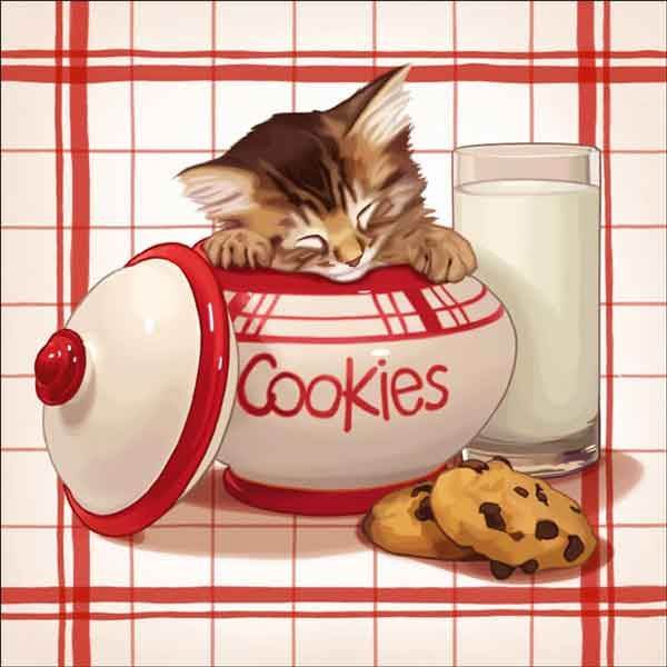 Check out the deal on Cazenave Kitten Kitchen Ceramic Accent & Decor Tile - MC2-003cAT at Artwork On Tile Online Storefront