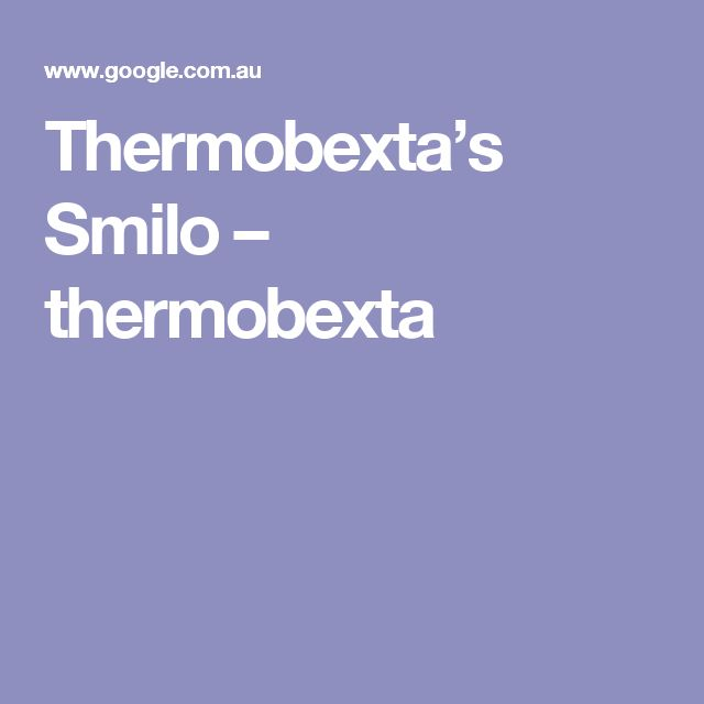 Thermobexta's Smilo – thermobexta