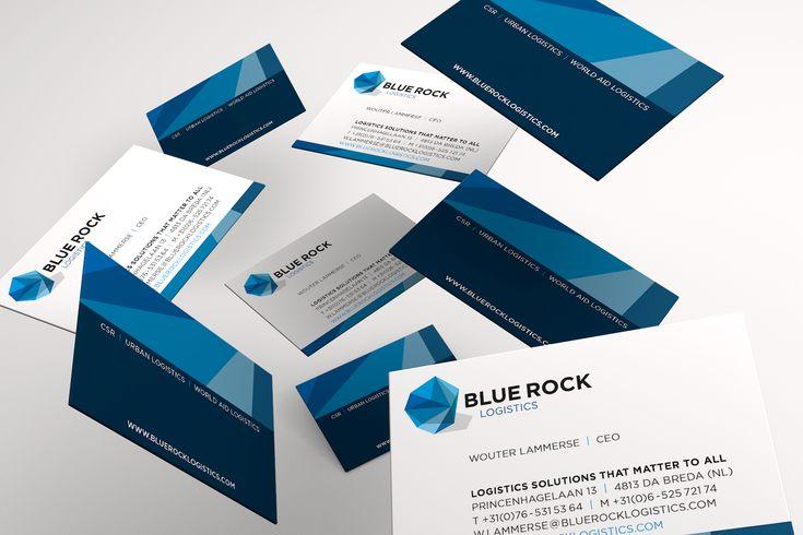 Design corporate identity and business cards BlueRock  graphic design typography art grafisch ontwerp typografie logo