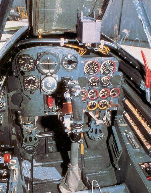 VERY RARE COLOUR PICTURE  Me262 cockpit