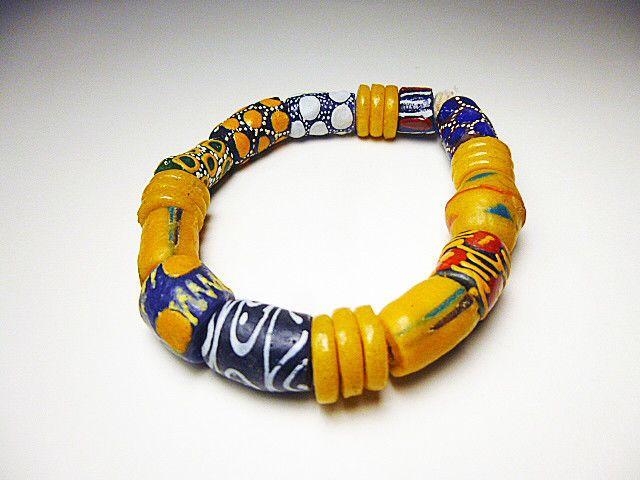 Wonderful bracelet of early Venetian Glass trade beads early century
